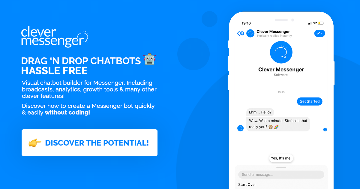 Click Here to Discover How a Chatbot on Facebook Messenger Looks Like!